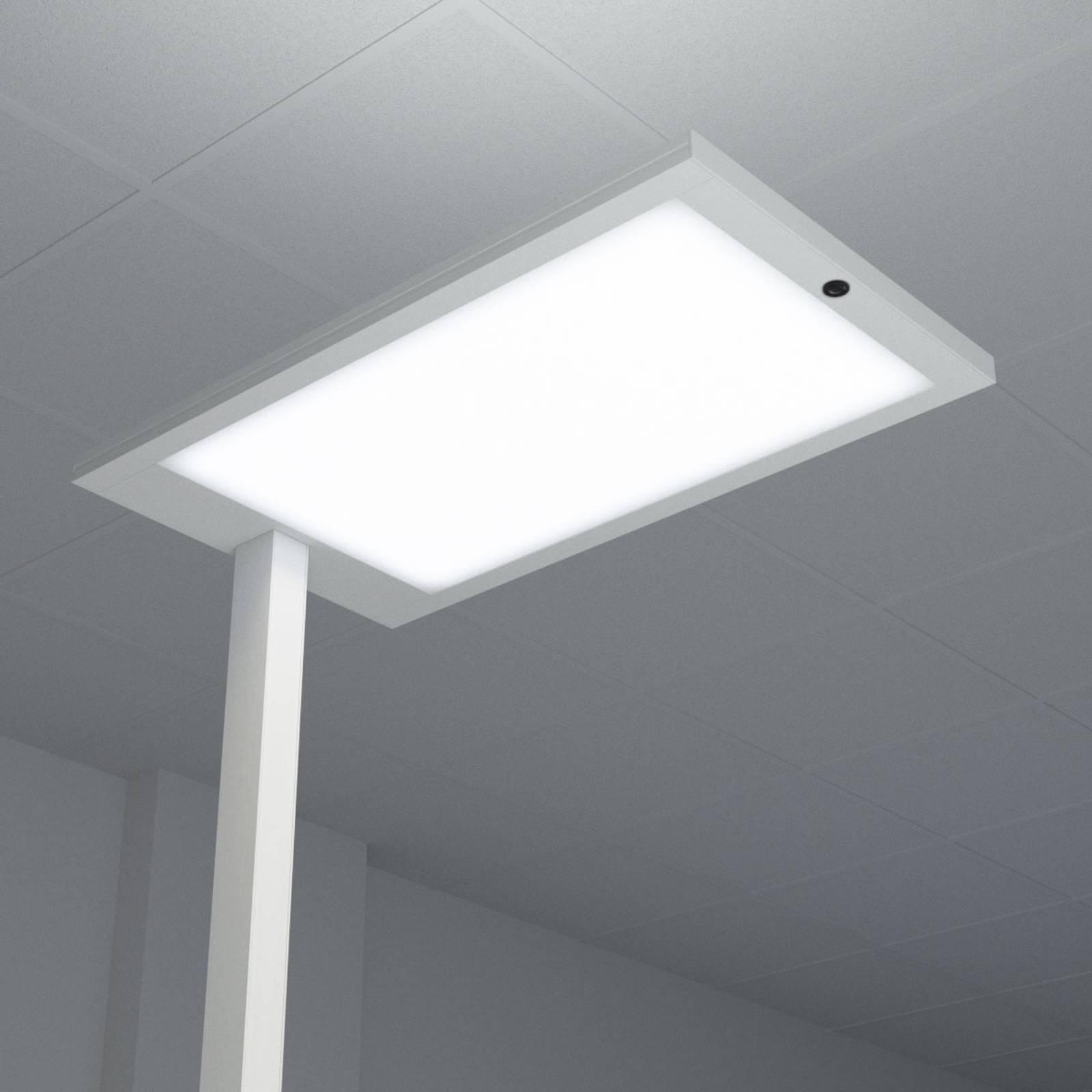 Biurowa lampa stojąca LED Almira, srebrna