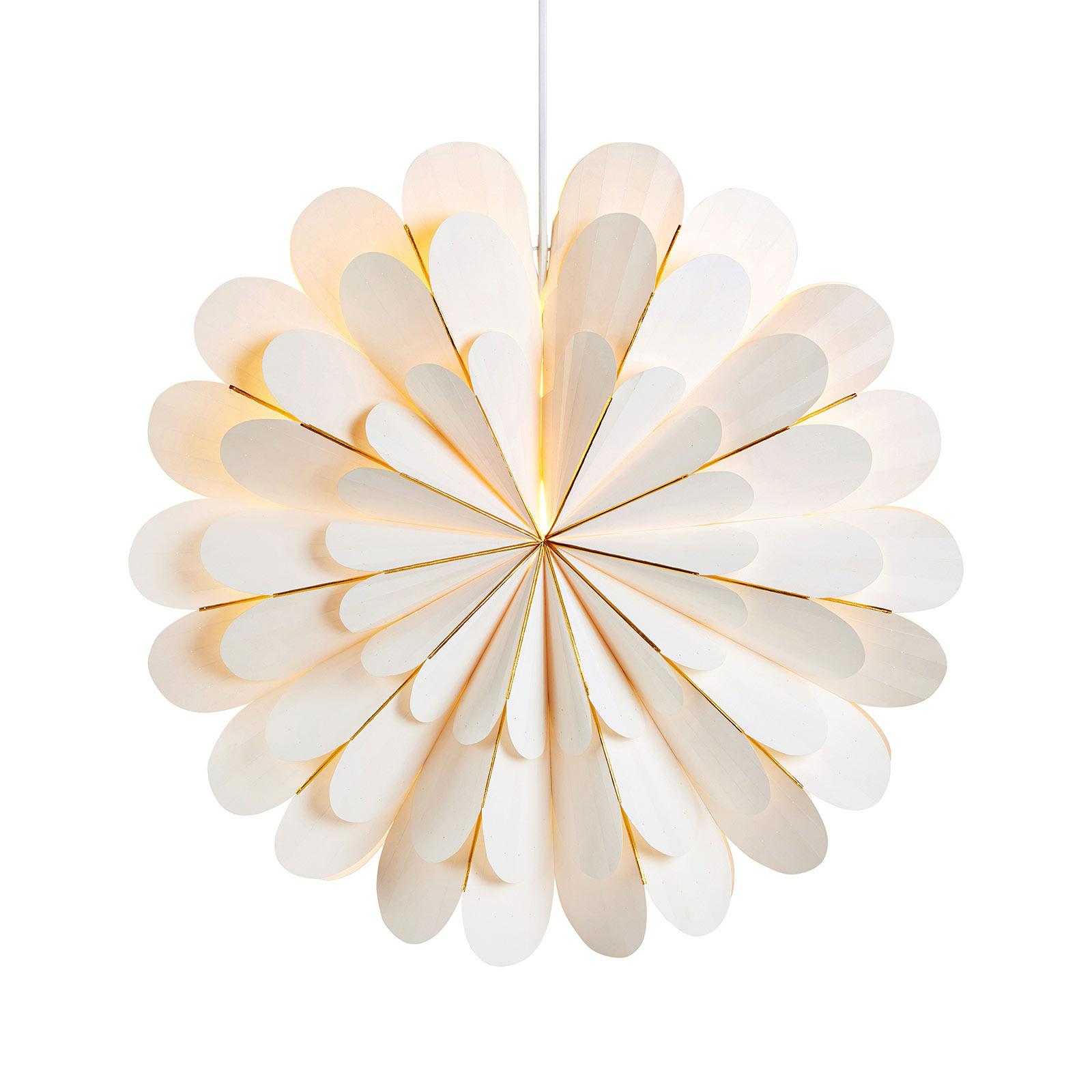 Decoratie ster Marigold als hanglamp, wit, Ø 45 cm
