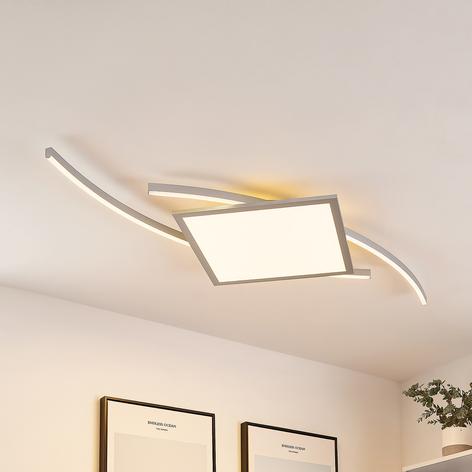 Lucande Tiaro plafoniera LED angolare 56,6 cm, CCT