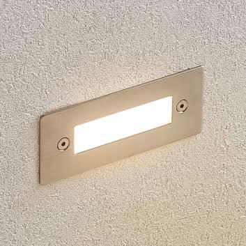 LED innfelt vegglampe Roni i edelstål, 12 cm