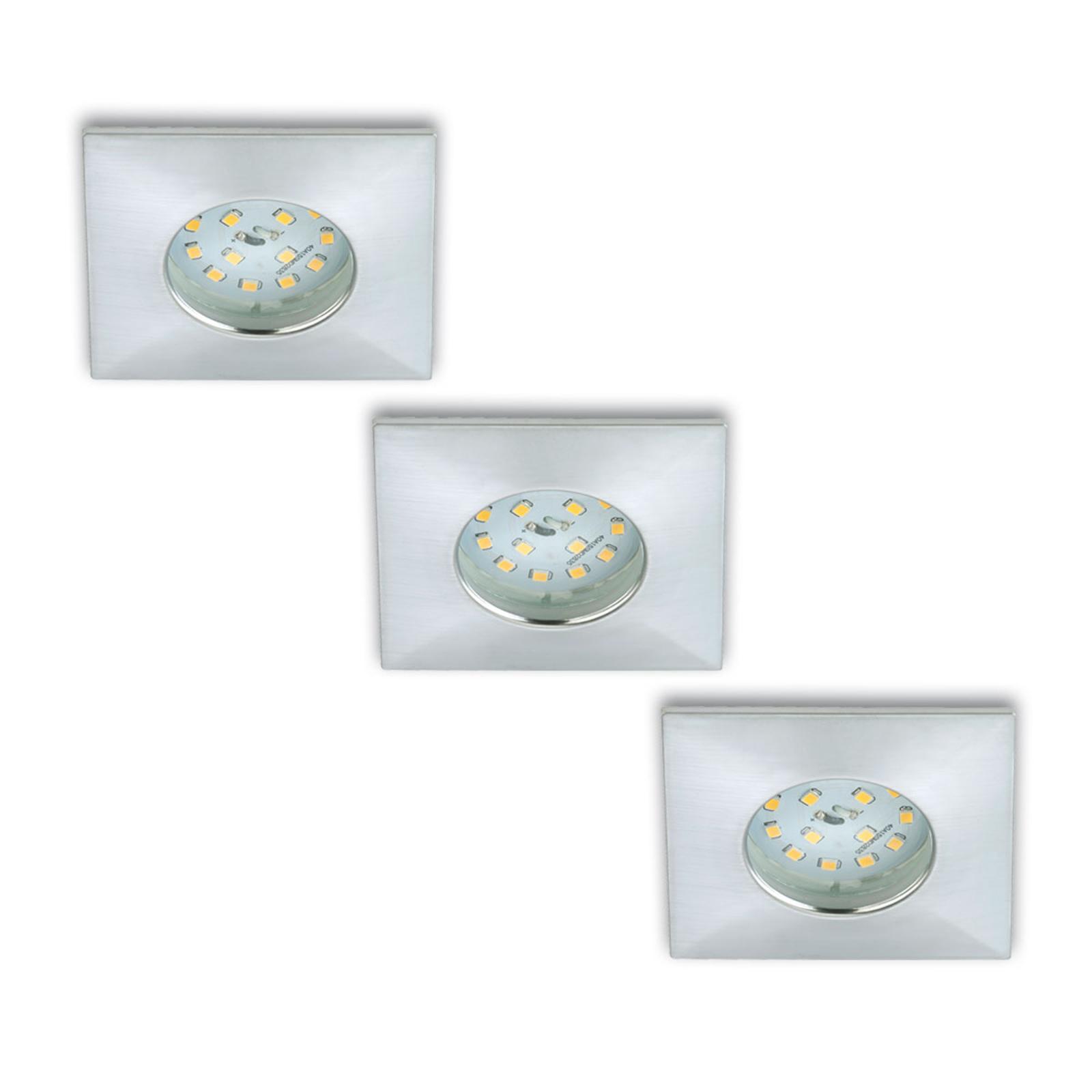 Faretto LED incasso Luca set 3x IP44 alluminio