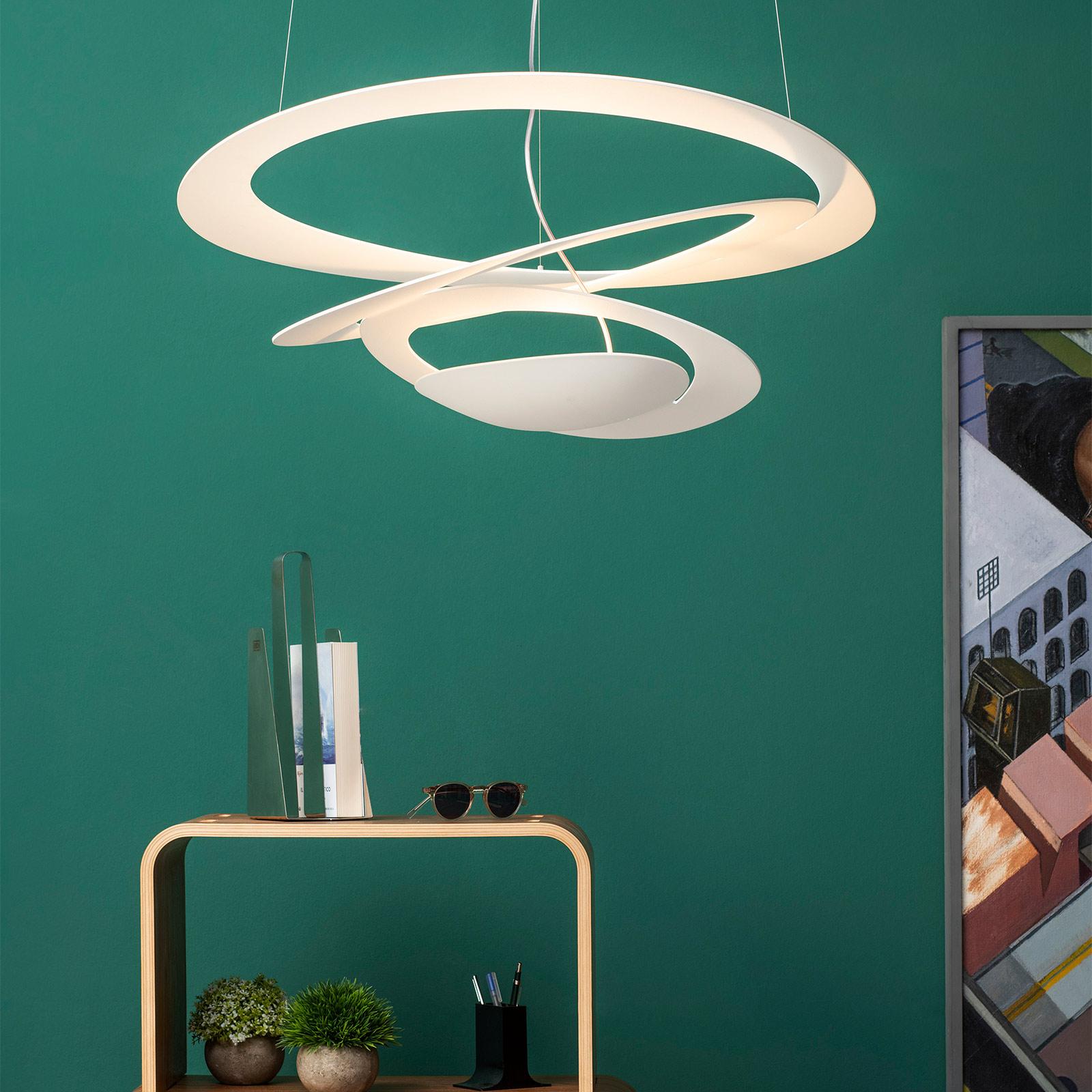 Hvid design hængelampe Pirce, 67x69 cm