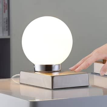 Naomi - lampada da tavolo con sfera di vetro