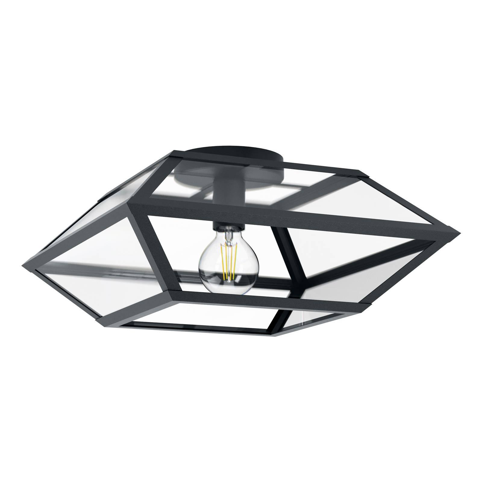 Lampa sufitowa Casefabre ze stali, 45x45 cm