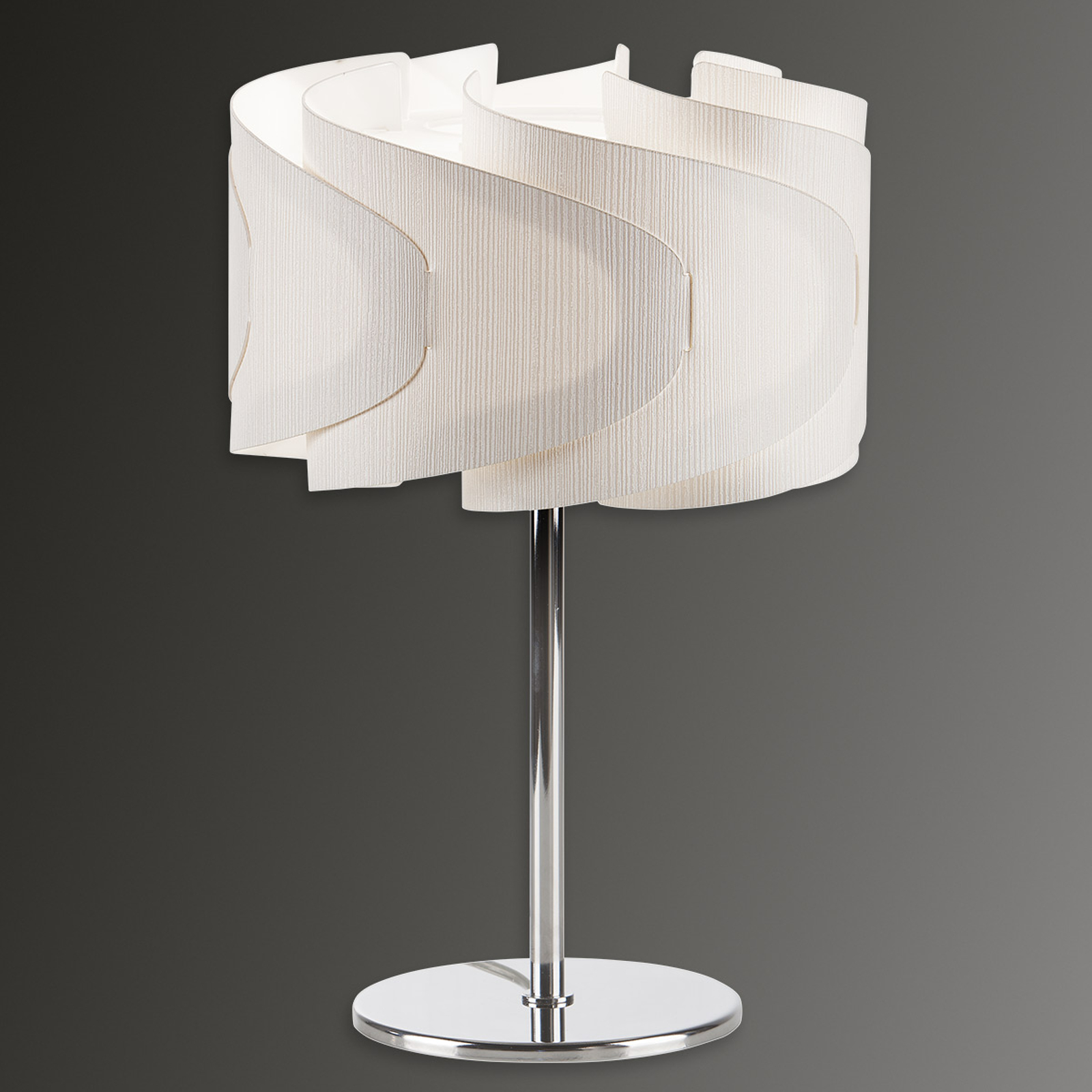 Lampa stołowa Lumetto Ellix o wyglądzie drewna