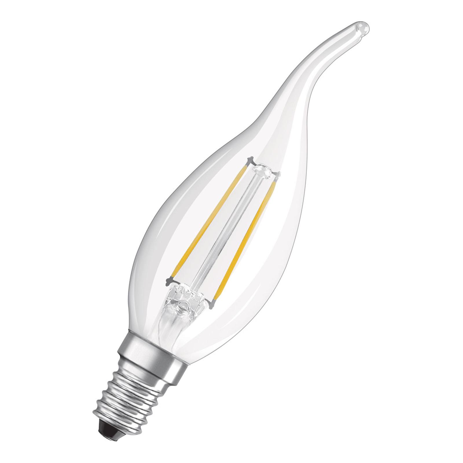 OSRAM LED-Kerze E14 4W Windstoß 4.000K klar