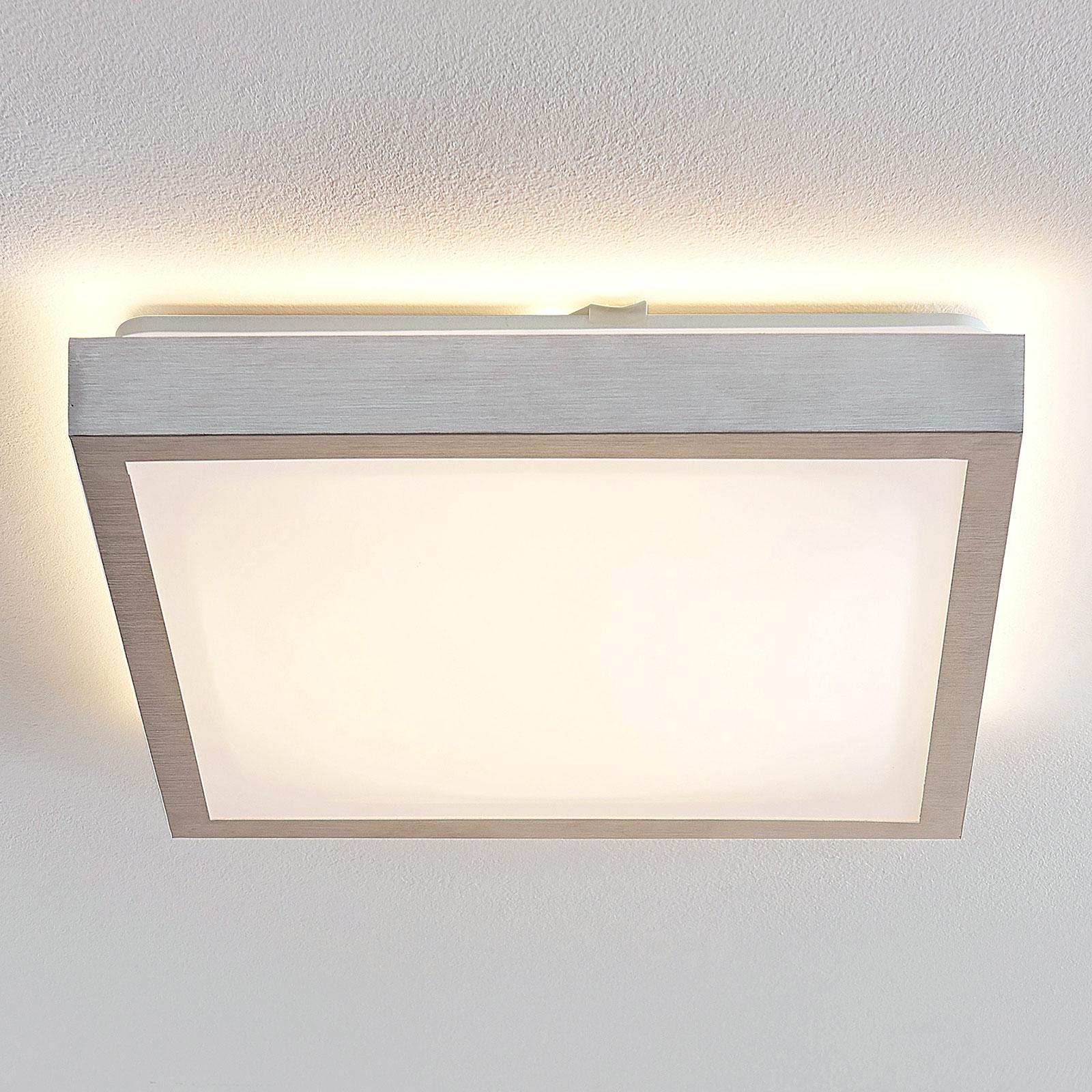 Lindby Margit LED-Alu-Deckenlampe, eckig, 37,5 cm