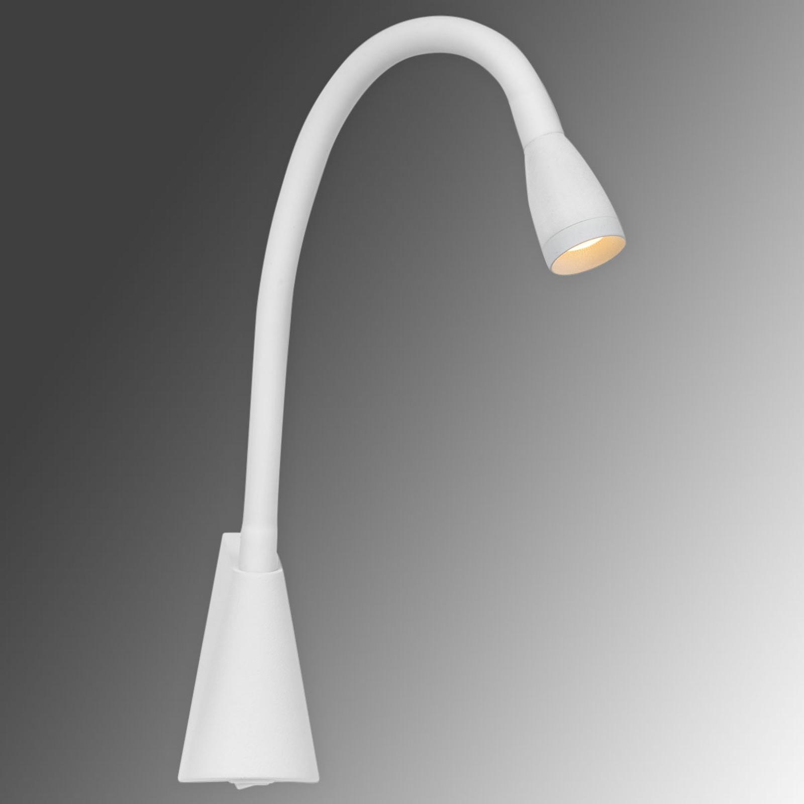 Buigbare LED wandlamp Galen in wit