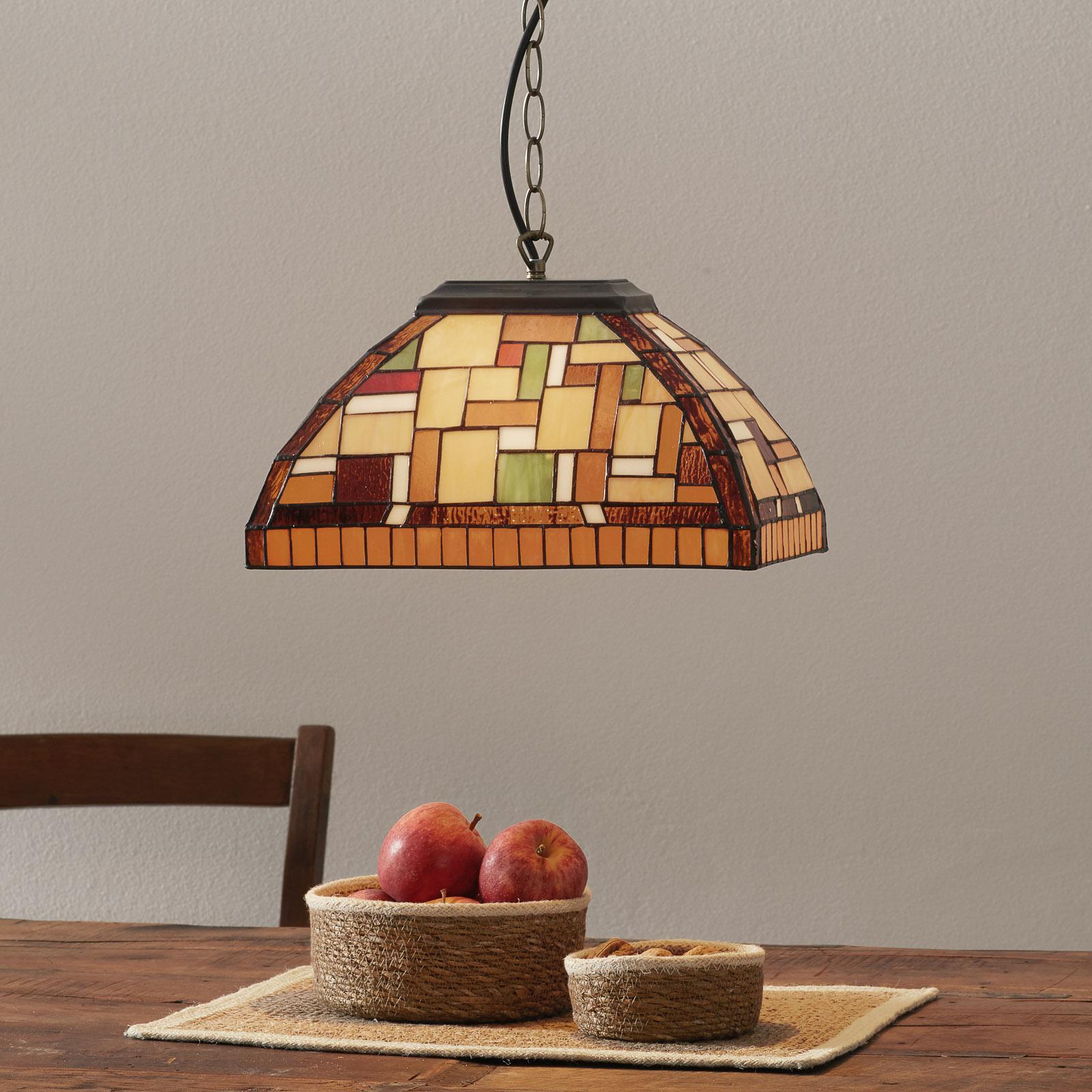 Lampa wisząca MOSAICO w stylu Tiffany