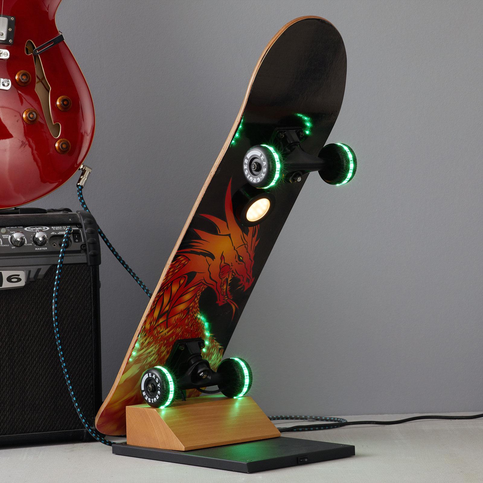 Skateboard-LED-Tischlampe Easy Cruiser Dragon