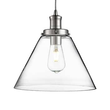Moderna lampada a sospensione in vetro Pyramid