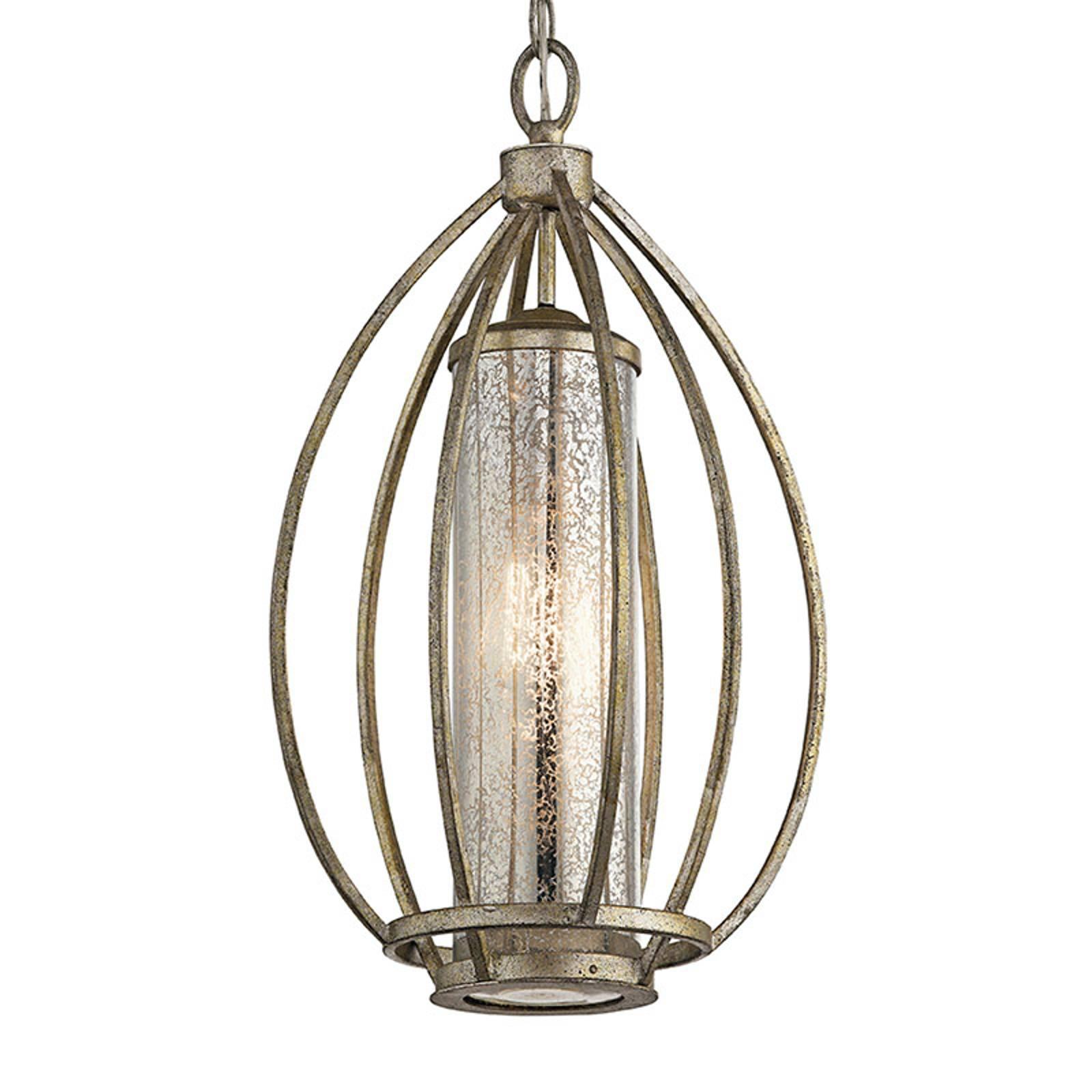 Lampa wisząca Rosalie o złotym wykończeniu