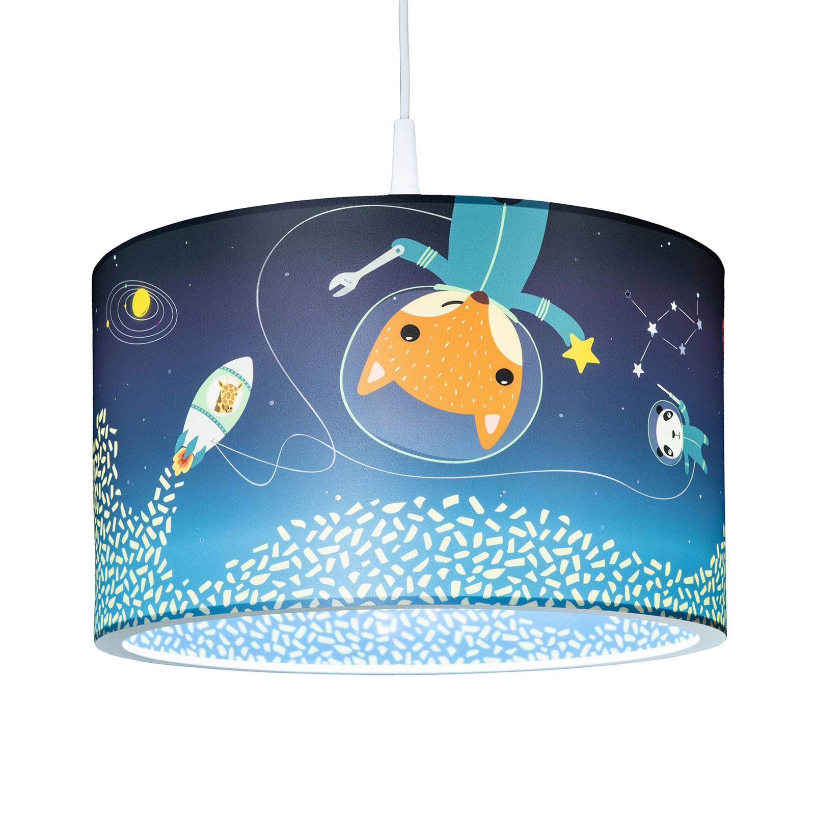 Hanglamp Space Mission, blauw