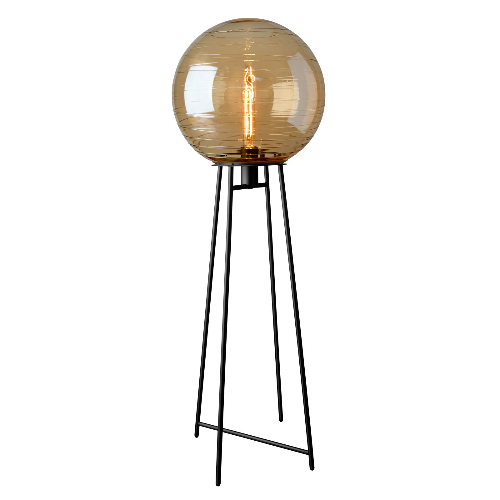 Vloerlamp lantaarn, glas amber