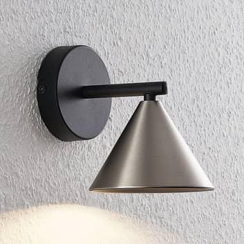 Lucande Kartio applique, 1 lampe, nickel