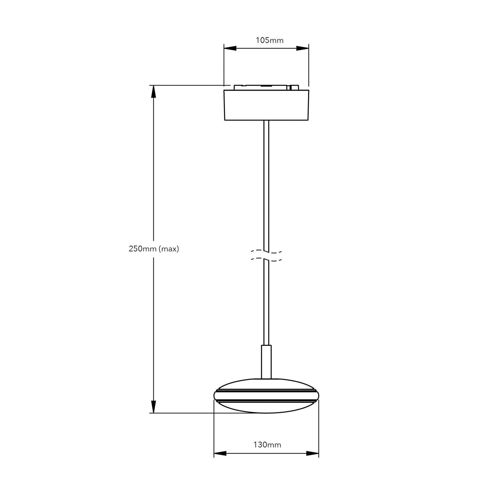 Shade ØS1 hanglamp zwart, wit, touw wit PVC