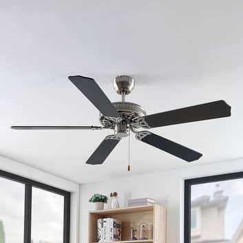 Lindby Rohne ventilador de techo, níquel mate