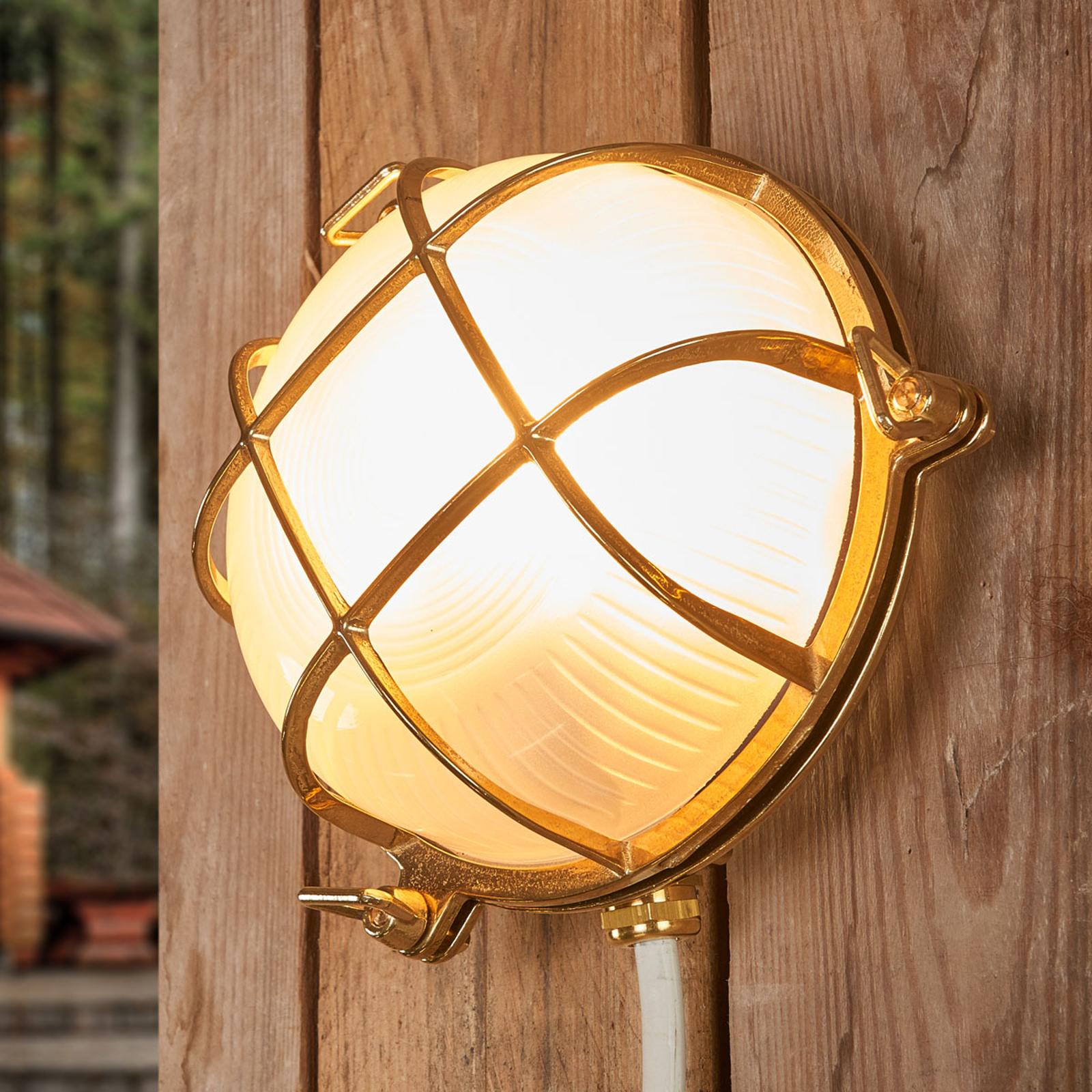 Bengt - venkovní nástěnné svítidlo kulaté mosaz