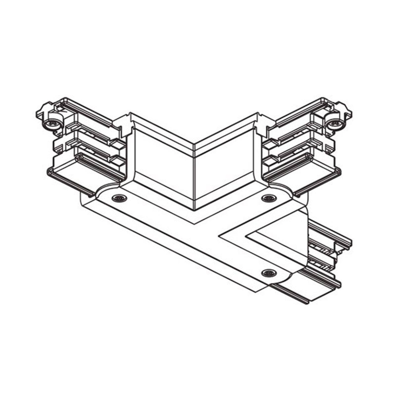 T-Verbinder Noa Schutzleiter innen links, weiß