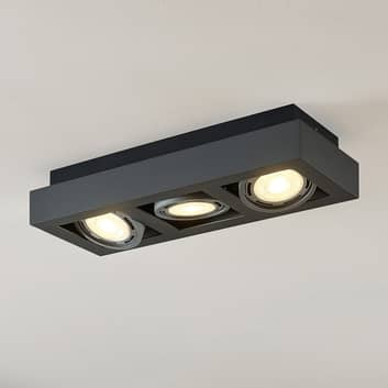 Faretto da soffitto LED Ronka GU10 a 3 luce grigio