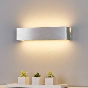 Alufarbene LED-Wandleuchte Ranik