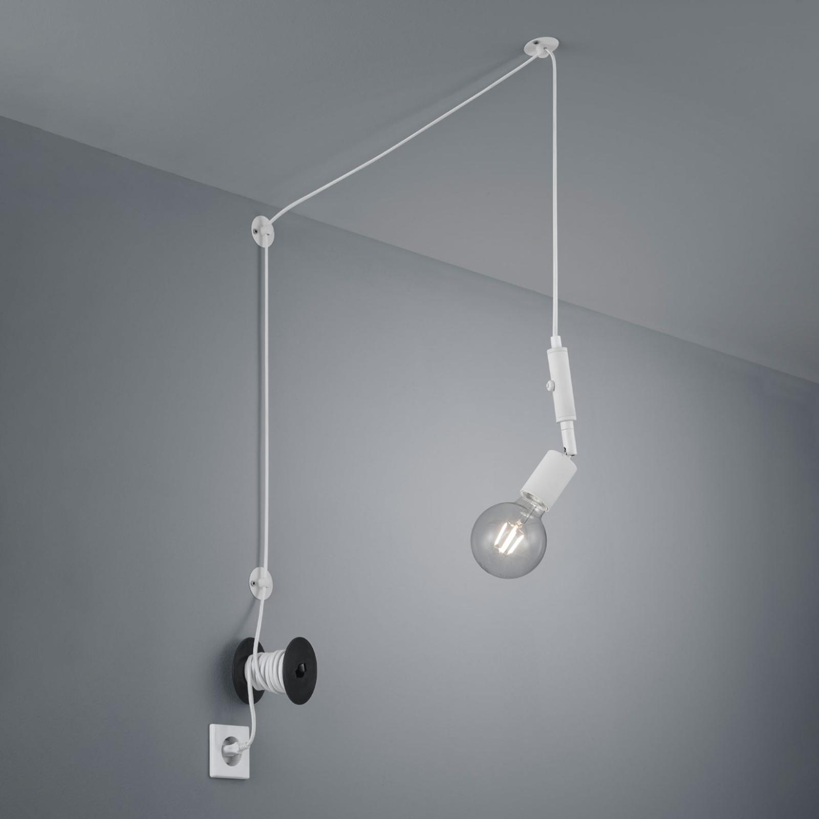 Hanglamp Stella decentraal met stekker wit