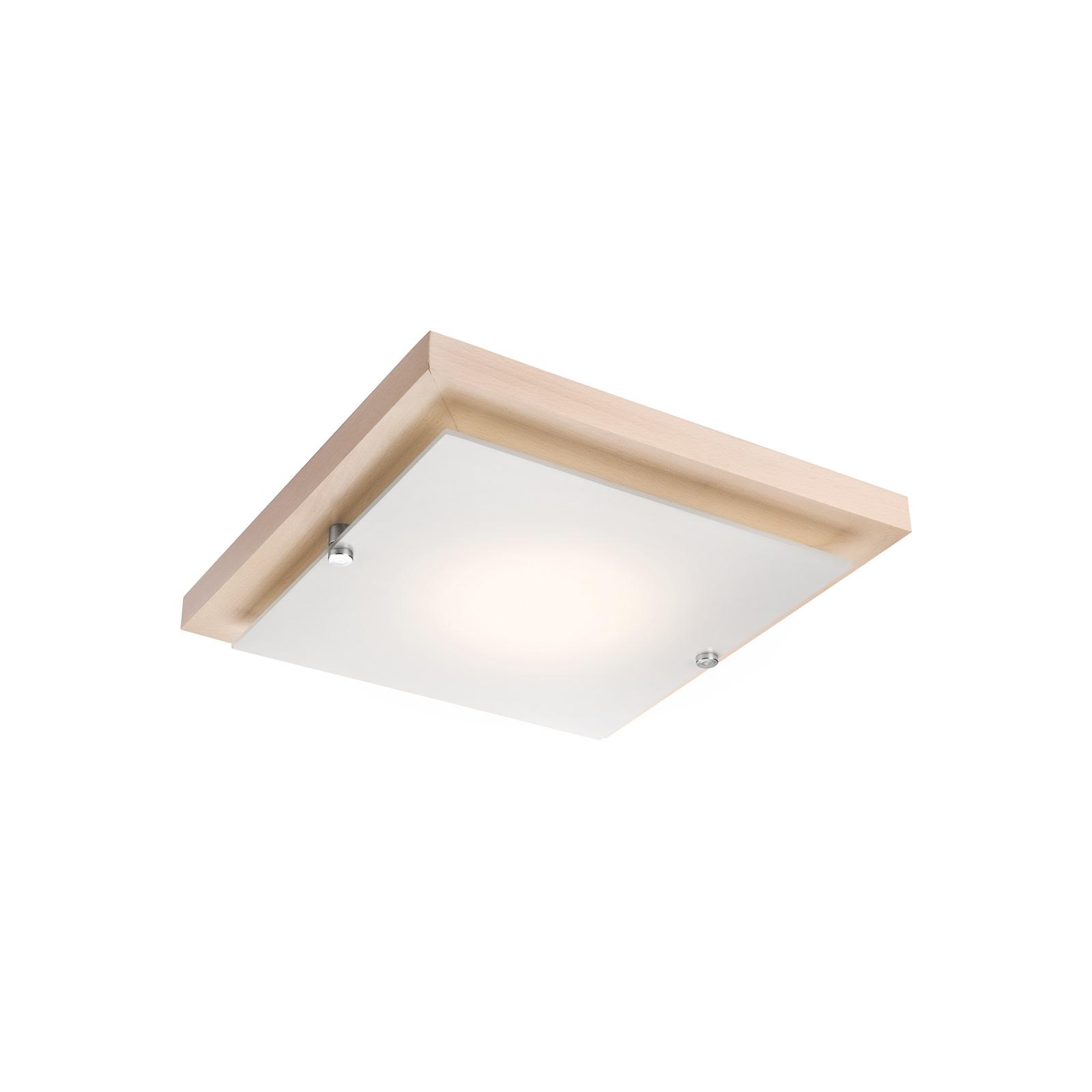 Deckenlampe Kerio, 30x30 cm, Kiefer natur