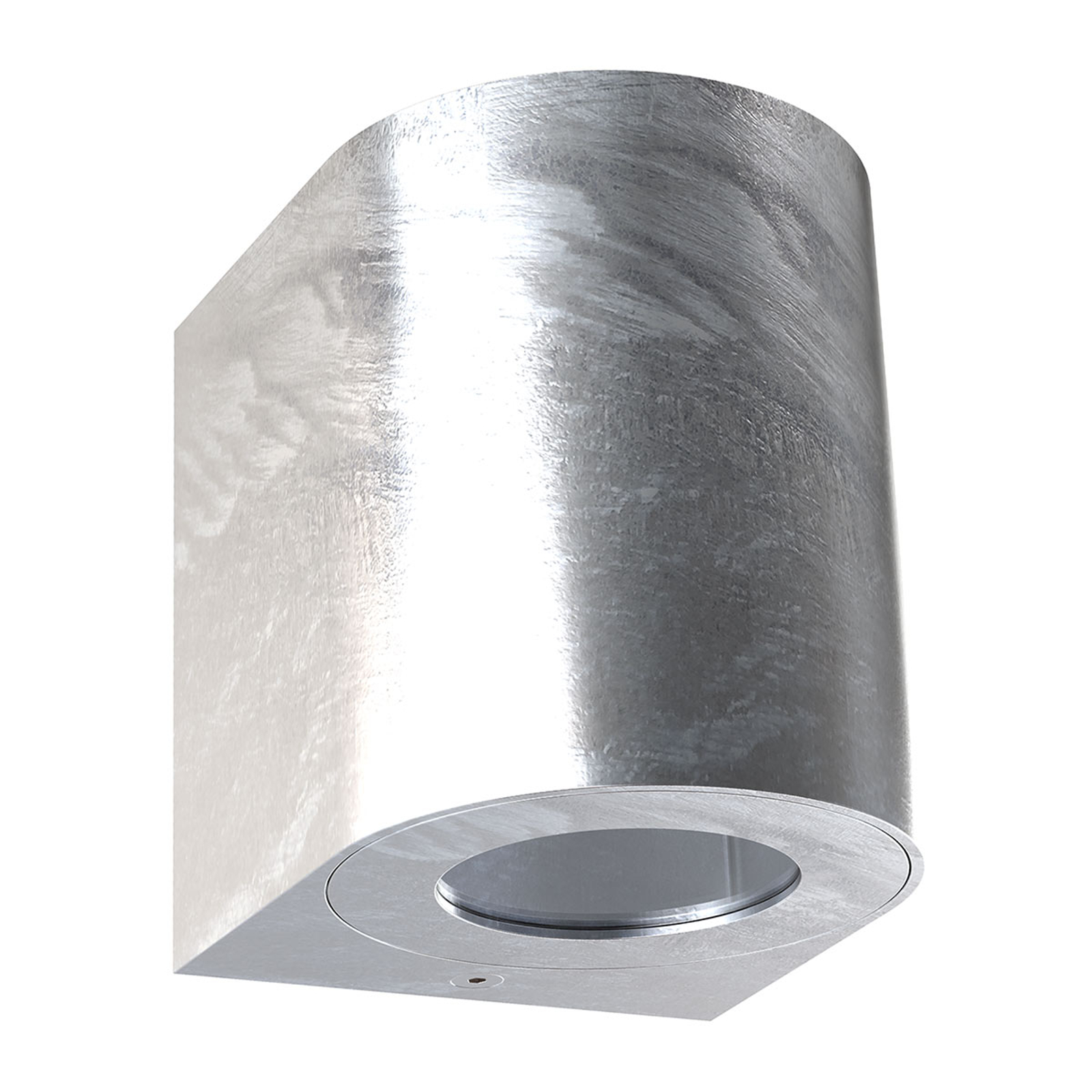 LED buitenwandlamp Canto 2, 10 cm, verzinkt
