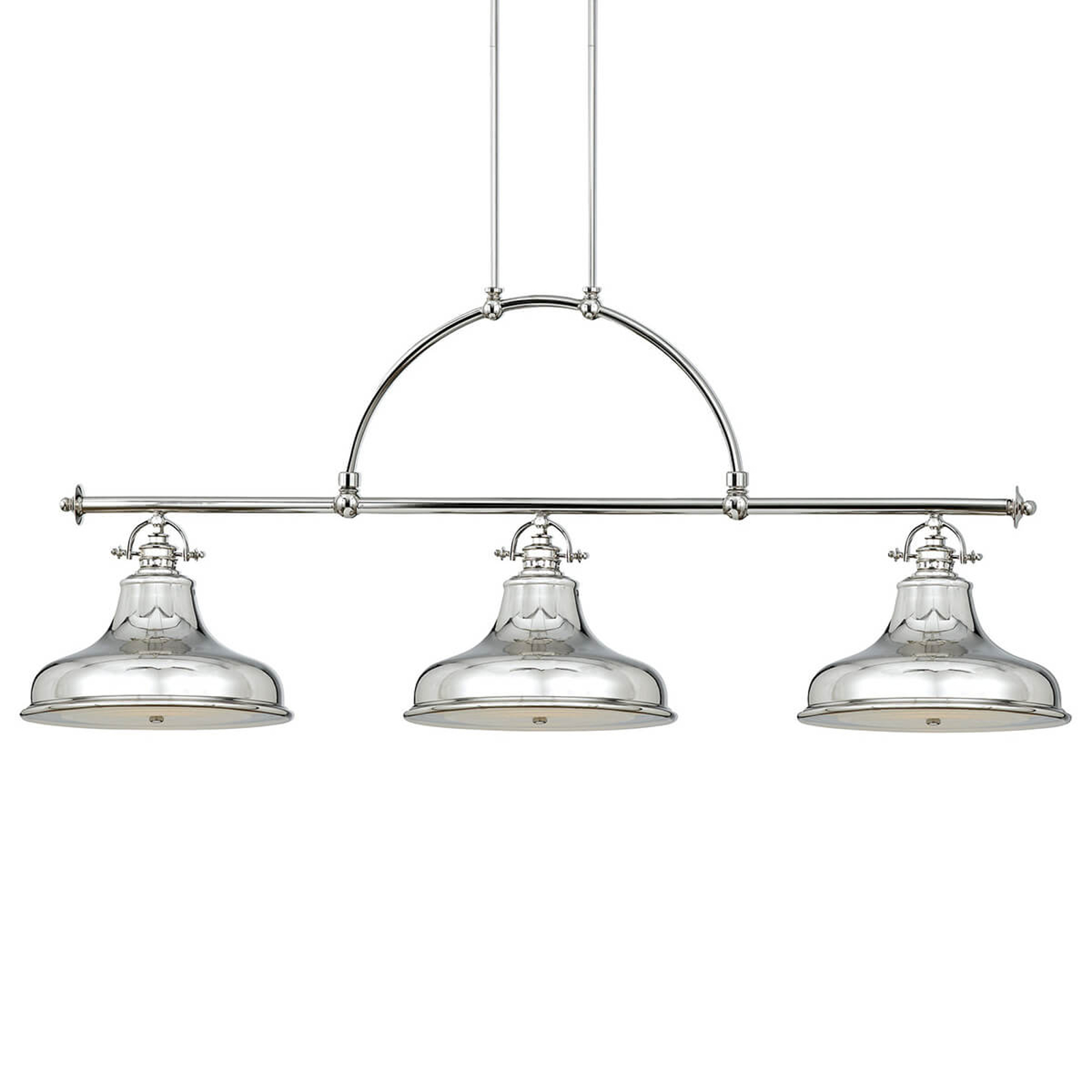 Lampada sospensione Emery 3 luci argento