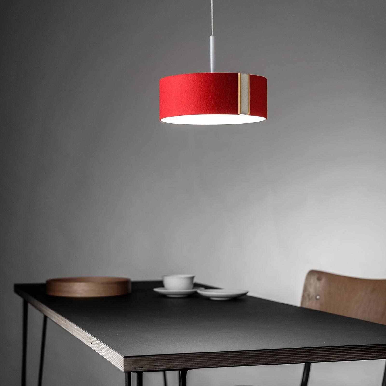 Lampa wisząca LED LARAfelt S, Ø20cm czerwona/biała
