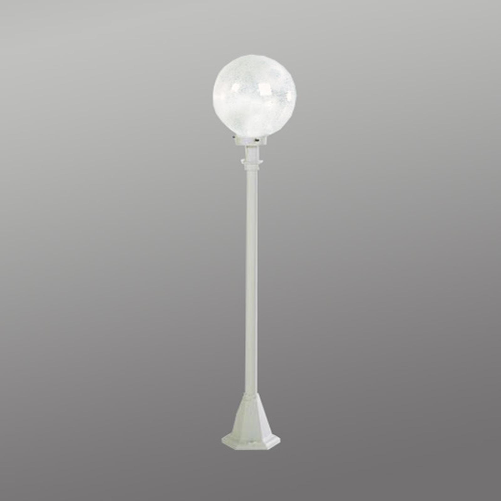 Słupek oświetleniowy białe ze szkłem pęcherzykowym