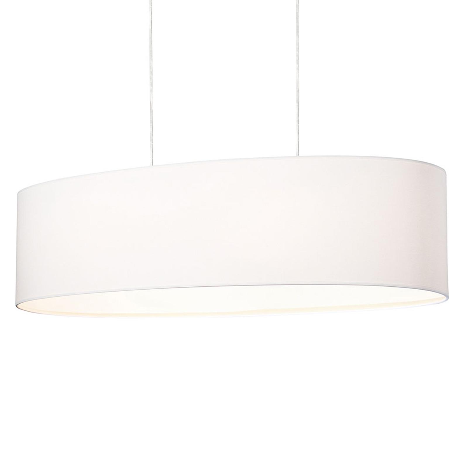 Lampa wisząca Cassy z białym kloszem tekstylnym