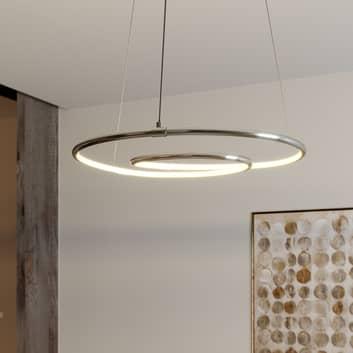 Lindby Lucy LED závěsné světlo, 45cm, chrom
