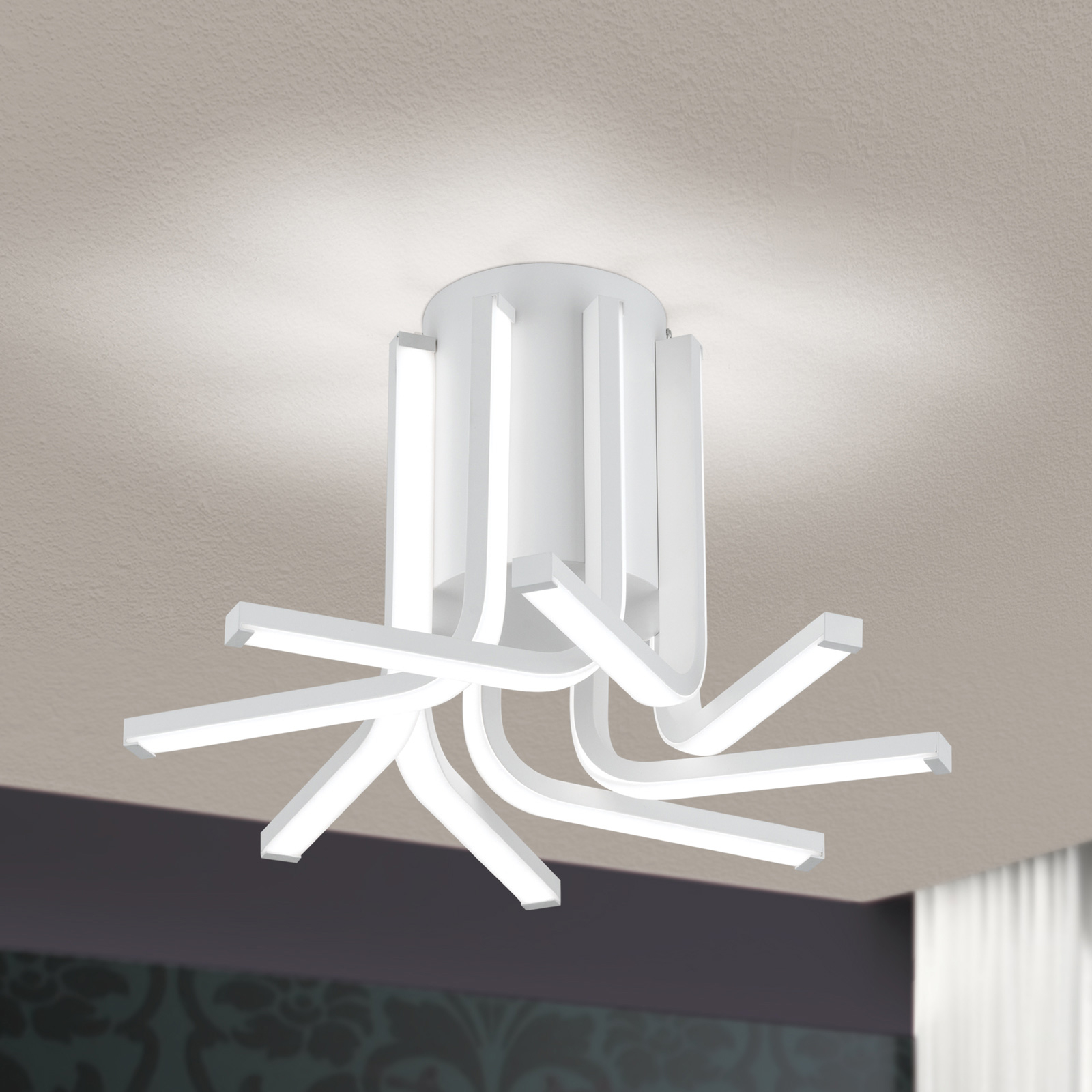 Lampa sufitowa LED Venti, ściemniana