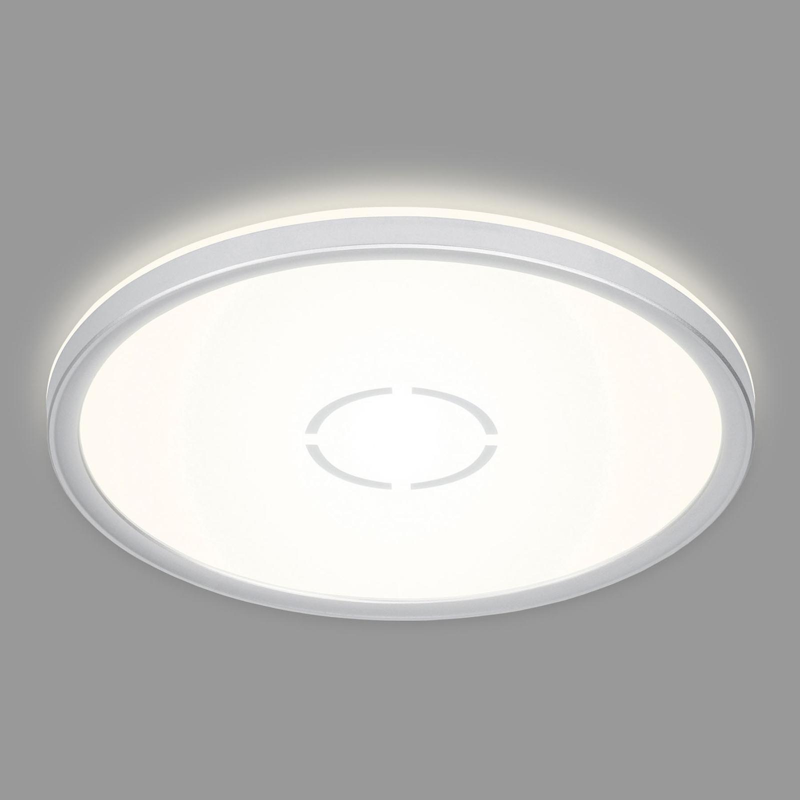 LED plafondlamp Free, Ø 29 cm, zilver