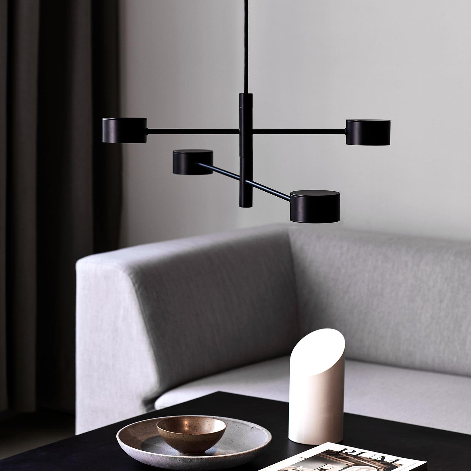 LED hanglamp Clyde, 4-lamps, tweetraps