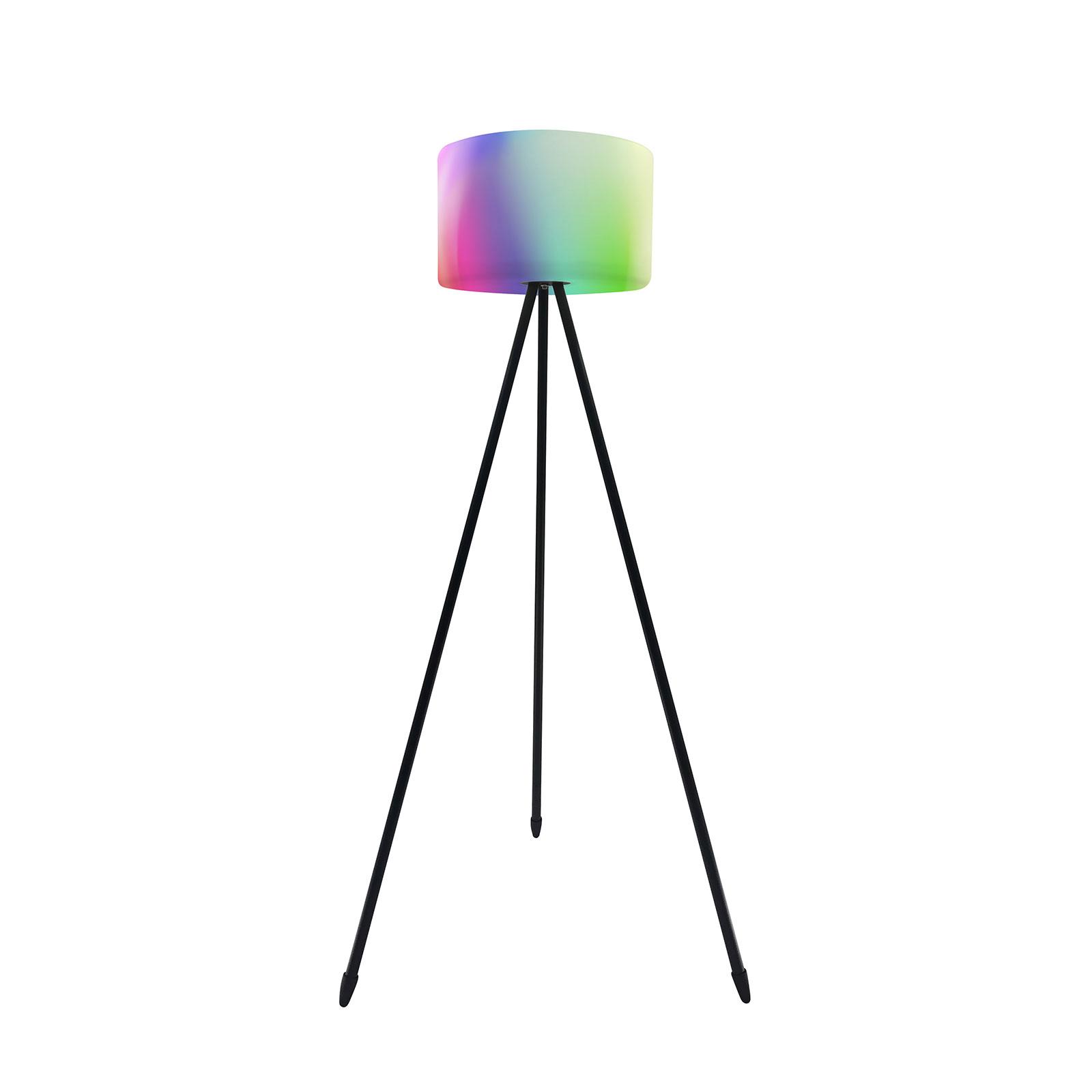Müller Licht tint Khaya utend. LED-gulvlampe RGBW