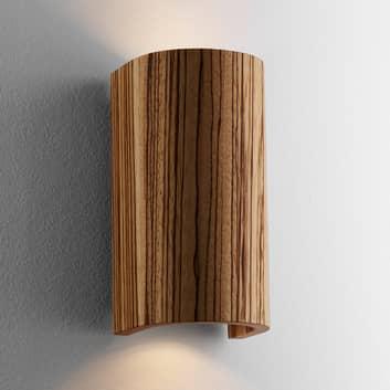 Nástěnné světlo Tube, zebrano