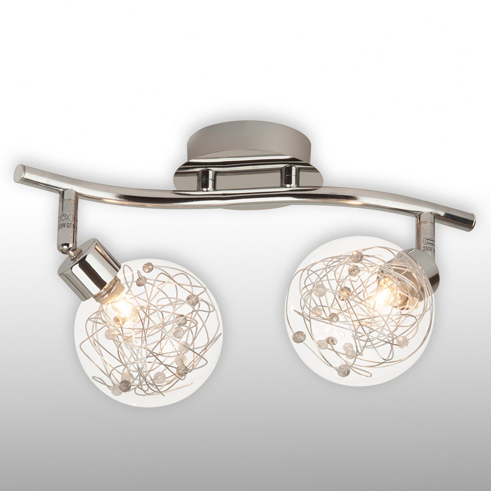 Plafonnier Joya à deux lampes