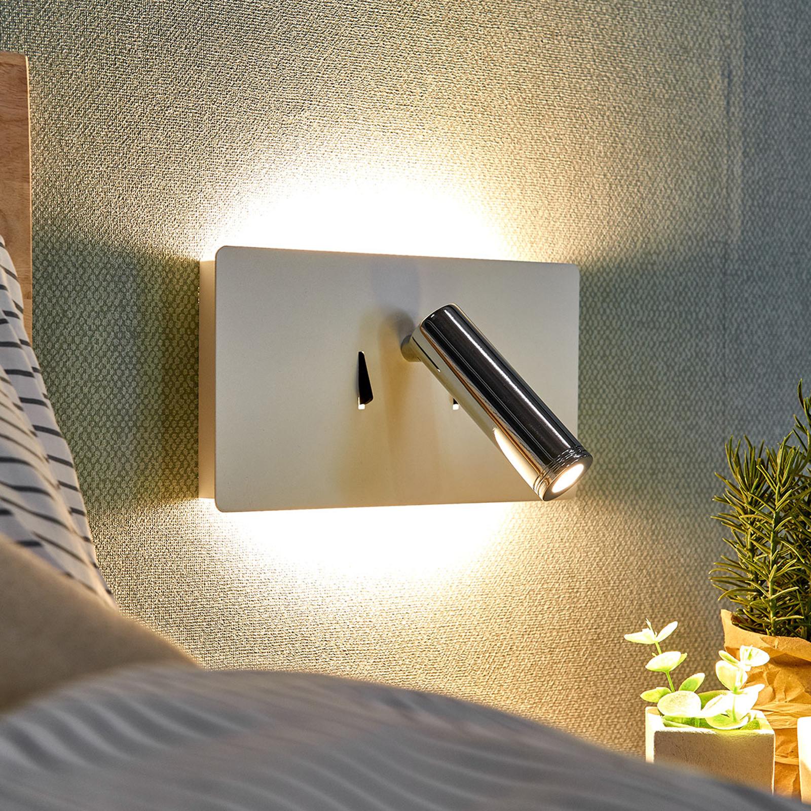 LED-vegglampe Elske med leselys