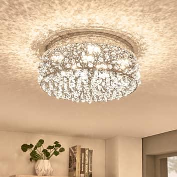 Funklende LED-loftlampe Felias, rund form