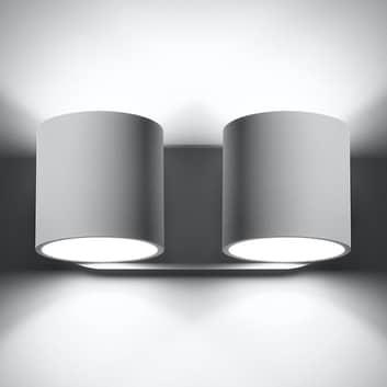 Seinävalaisin Mirza up/down 2-lamppuinen valkoinen