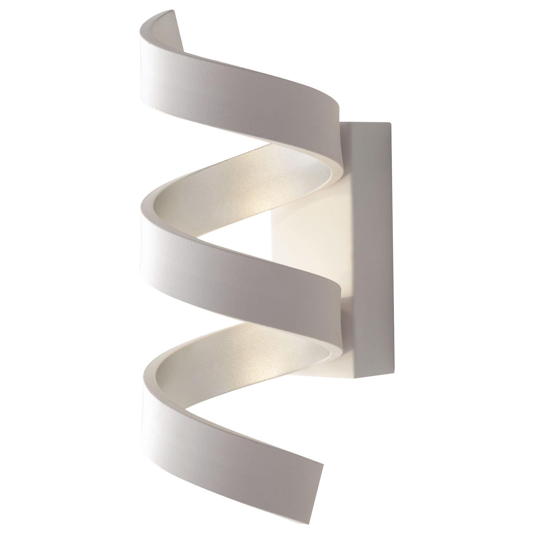 LED-Wandleuchte Helix, weiß-silber, Höhe 26 cm