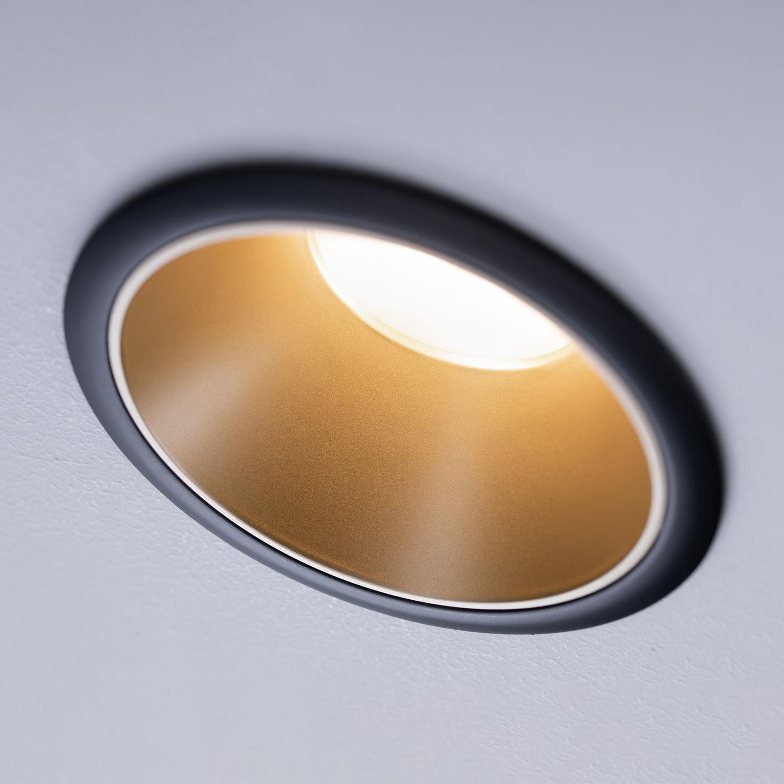 Paulmann Cole LED-spot, gull-svart