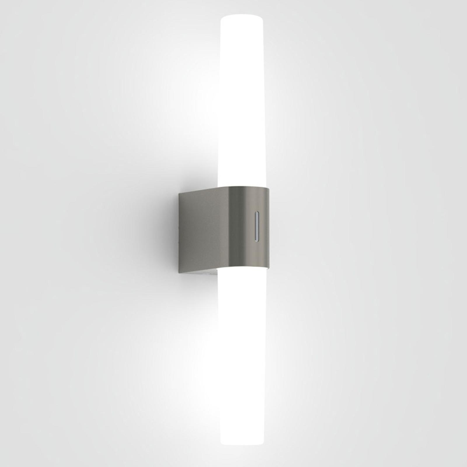 Applique LED Helva Double, nickel brossé