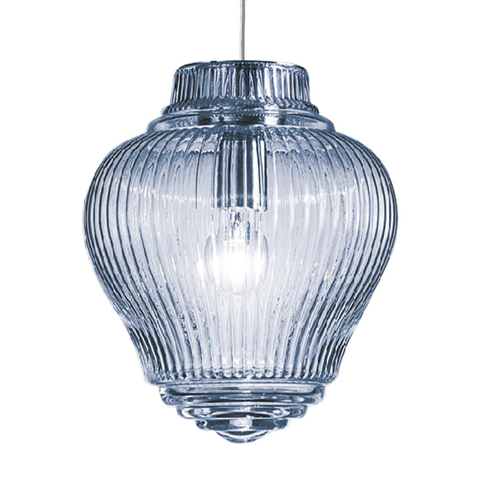 Clyde pendellampe 130 cm lyseblå