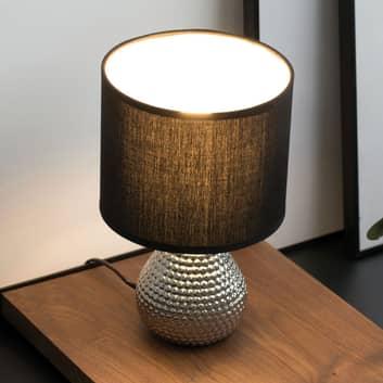 Pauleen Sip of Silver bordlampe med stoffskjerm