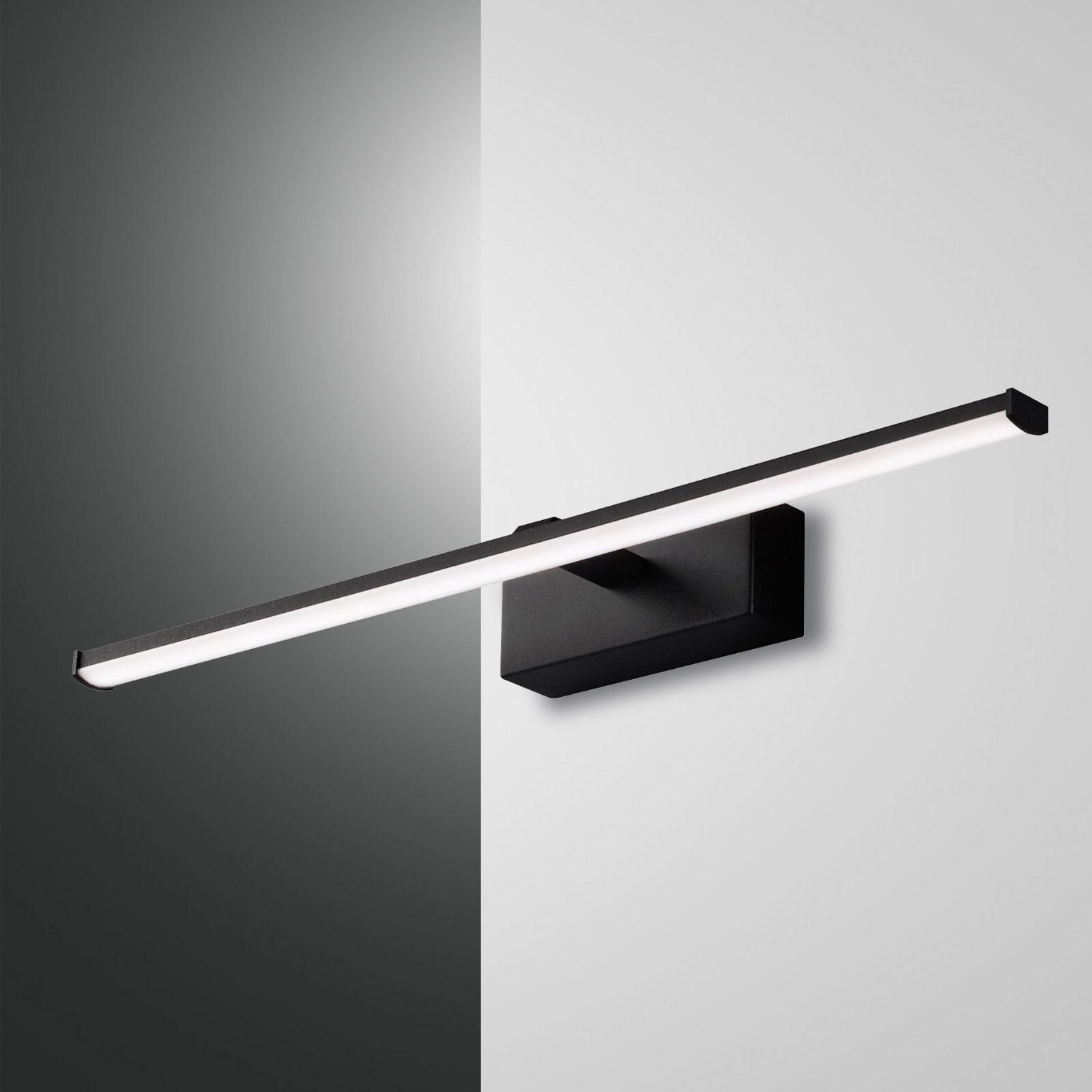 Applique LED Nala, noire, largeur 50cm