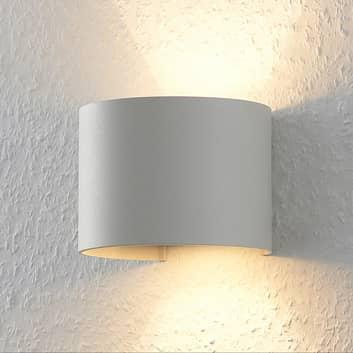 Hvid LED væglampe Zuzana, rund