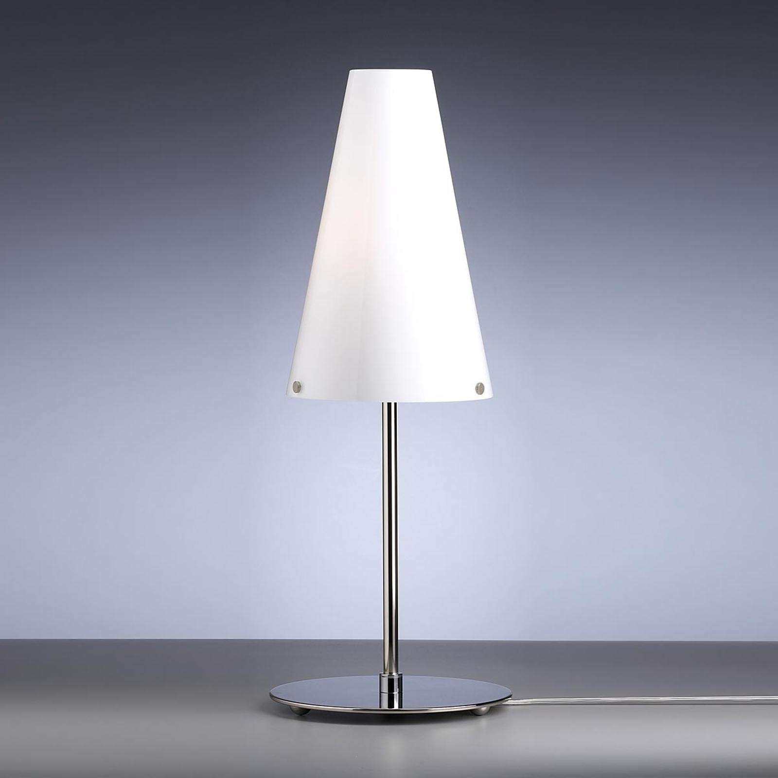 Tafellamp van Walter Schnepel, opaalwit